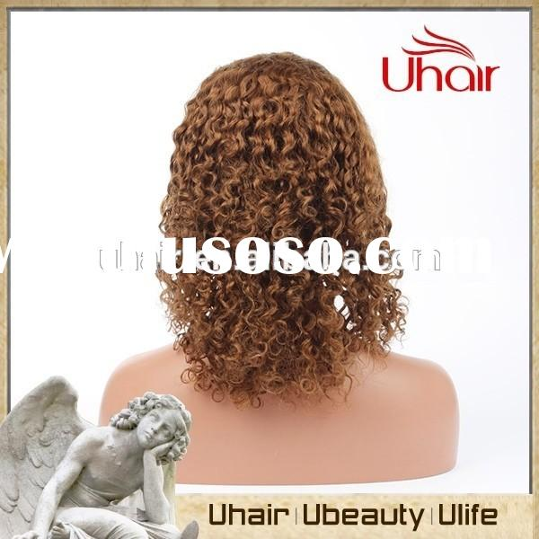 6A cheap Curl Human Front lace wig