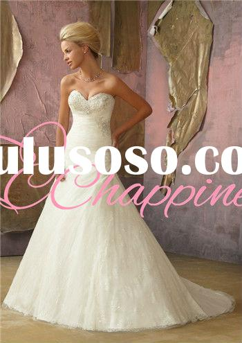 A line sweetheart mermaid bridal ball gown casual wedding dress wedding favors wholesale