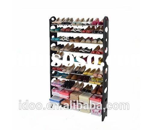 Big black color 50 pair metal stackable folding shoe rack with cheap price