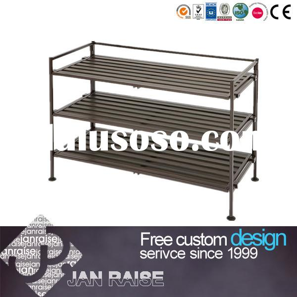 Hot sale IKEA black metal shoe rack