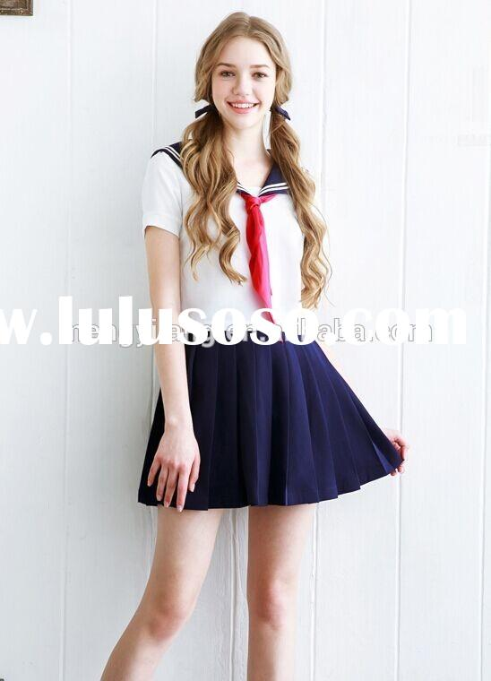 OEM custom school uniform design cheap wholesale school uniform