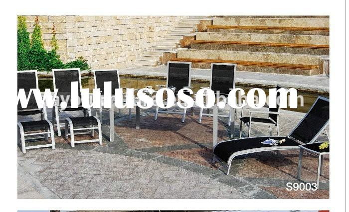 Sling Fabric Outdoor Furniture Tempered Glass Outdoor