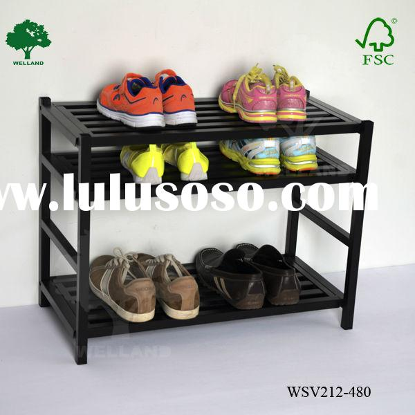 black metal shoe rack -M