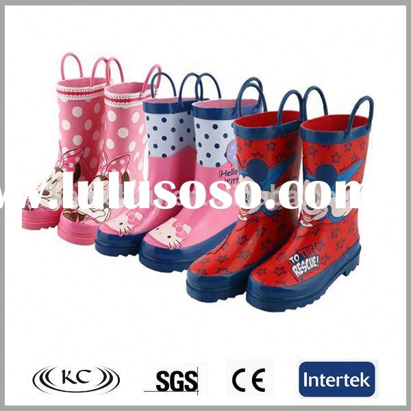 gold gumboots high heel fashion merf half rubber mtb new style cheap girls rubber boots for kids