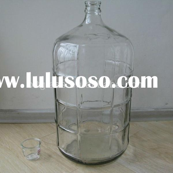 2015 hot sale 25 L large glass water container wholesale glass drinking bottles