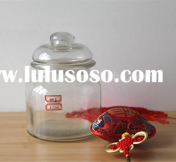 650ml 22oz Large airtight Glass jars with glass lid for food storage container