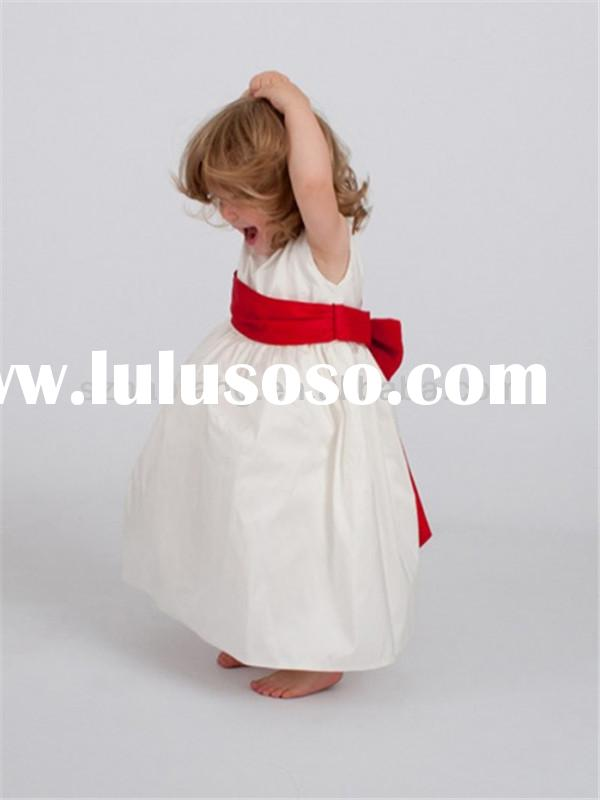 HT800 Lovely sleeveless red corset flower girl very very cheap flower girl dresses wedding dress for