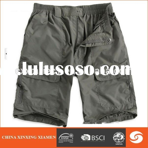 Hot Popular Mens Check Shorts Cargo Shorts for hiking and camping wear