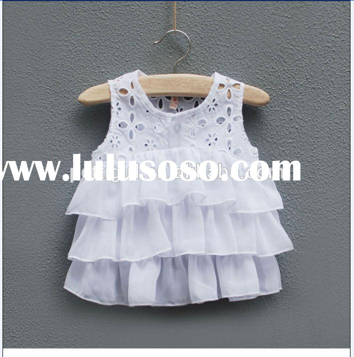 Latest Arrival Summer Baby Girl Dresses Layered Fashion Design Princess Dresses For Party Wear Free