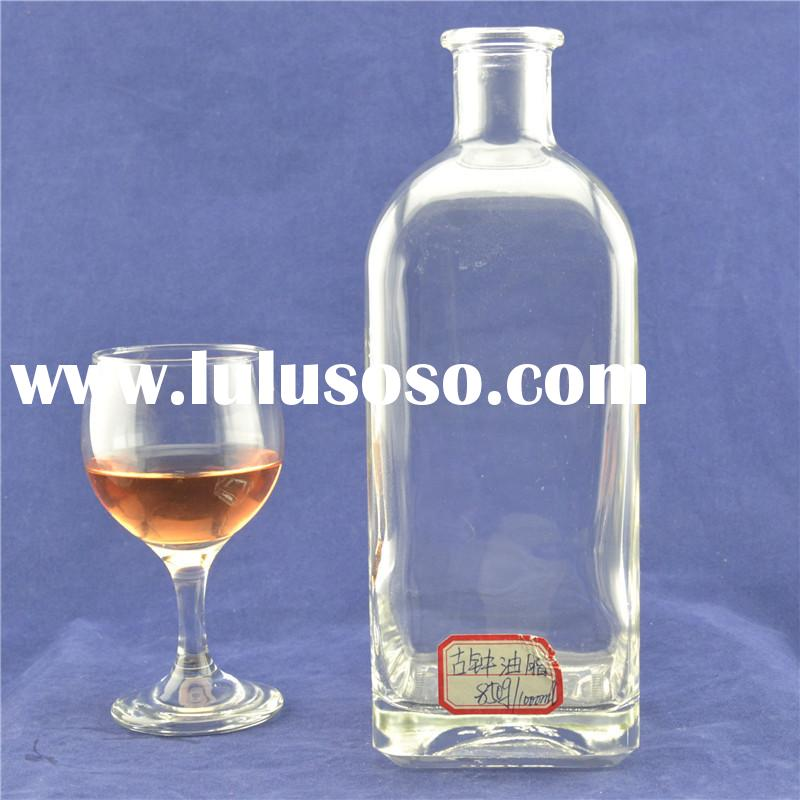 Wholesale 1000ml top grade empty fancy large glass containers