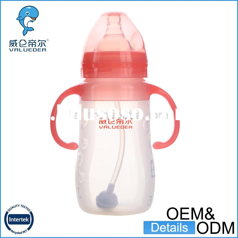 china OEM bpa free baby feeding bottle with spoon