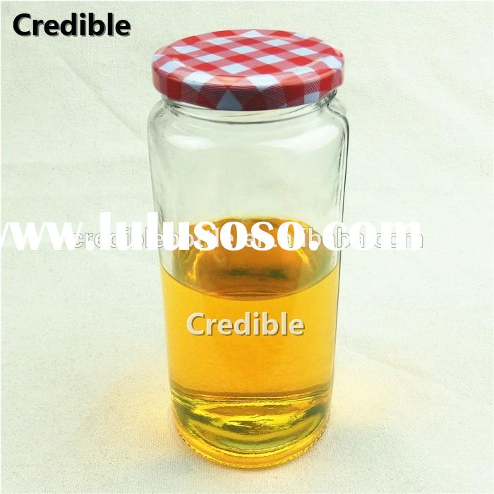 cylindric glass storage containers,food storage container, glass jar for jam sauces