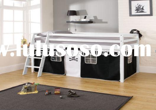 kids pine wood loft bed with stairs