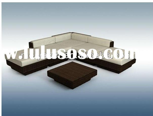 modern rattan sofa set/cane corner sofa bed MS-110
