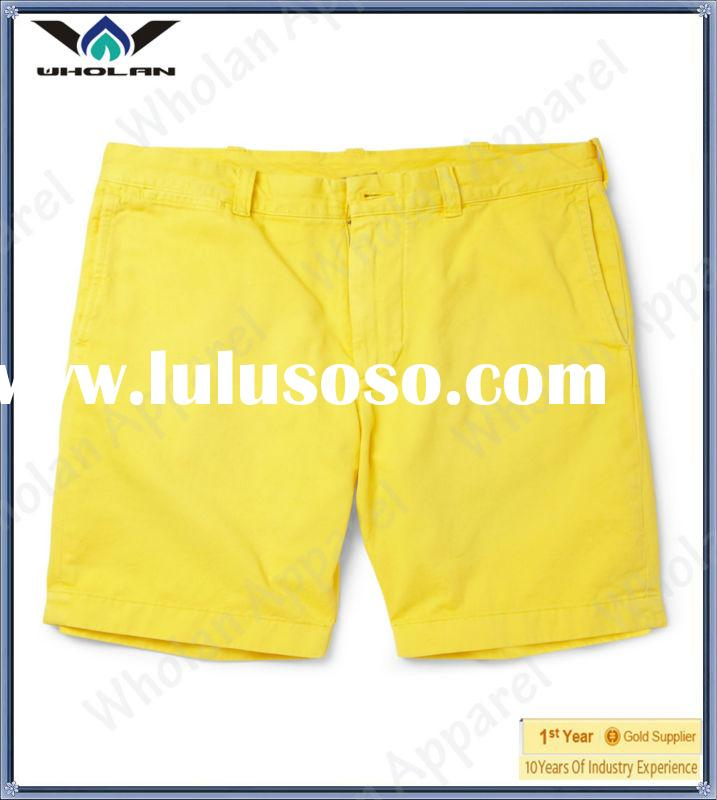 wholesale yellow denim jeans cargo shorts for man