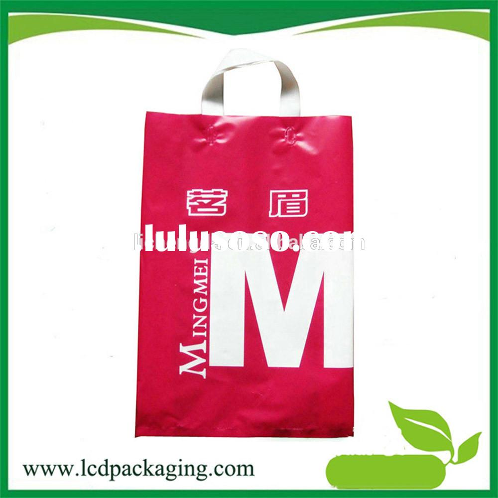 OEM Fashion Design small plastic bag making machine with soft loop handle