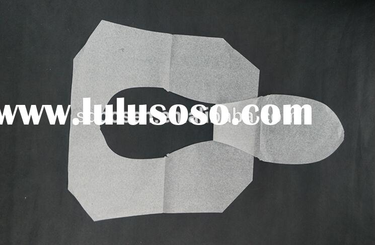 OEM cheap&good quality disposable wood pulp paper fitted toilet seat covers for travelling
