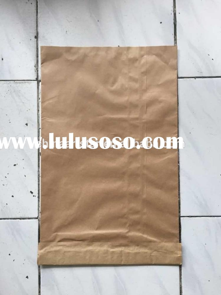 Self adhesive kraft paper bag,multiple layer Brown craft bag for flour,seed,rice,salt,sugar