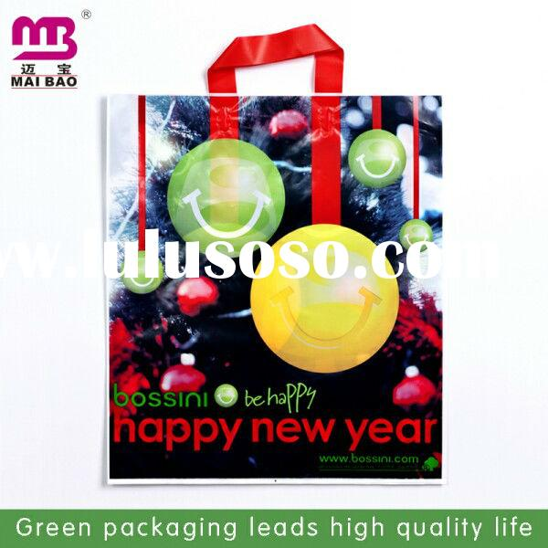 Small gift bag with plastic handle for shoulder sling book bag