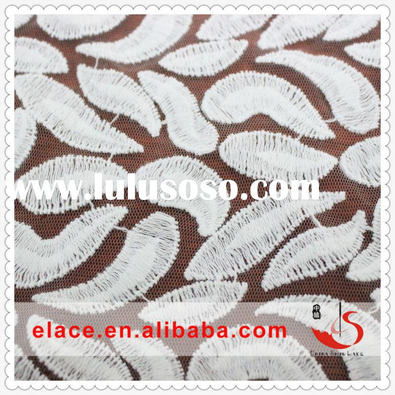 White clothing in turkey swiss voile lace net lace fabric