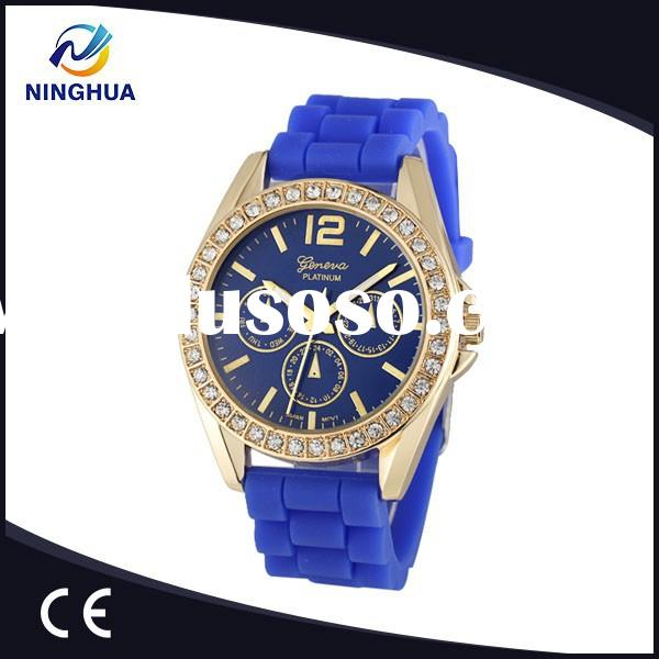 Wholesale Price Quartz Wrist Watch %100 New Material Jelly Silicone Diamond Watches For Ladies