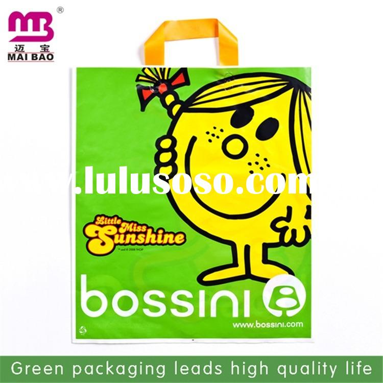fashion decoration small printed plastic bags with handle