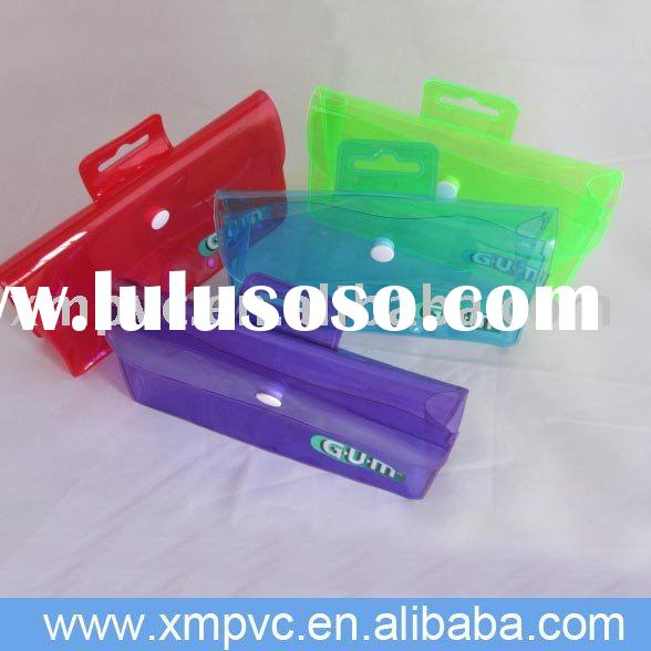 promotional plastic button bag with a small handle D-HB106