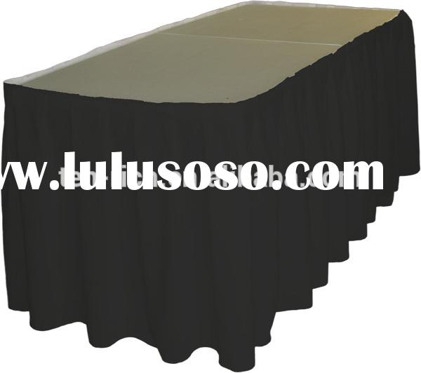 100% polyester table skirting ,table skirting for banquet and weddings