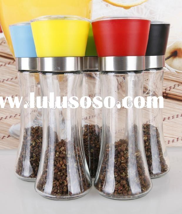 180ml pepper grinders with best quality,mini spice grinder,wine bottle shaped pepper mills,manual sa