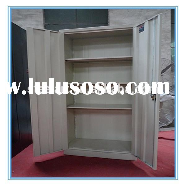 2 door steel swing door storage filing cabinet with mass shelf lock