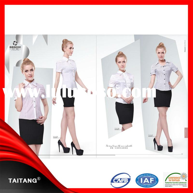 2014 high quality wholesale new design hot sell sample office uniform