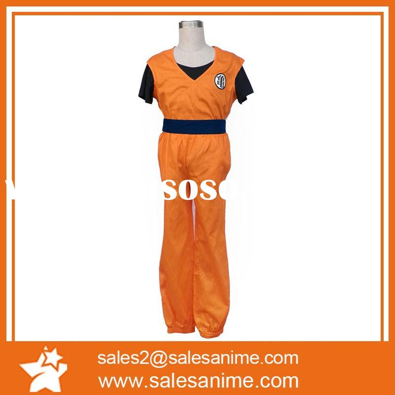China top quality hot selling 100% cotton Dragon Ball anime cosplay costumes for adult