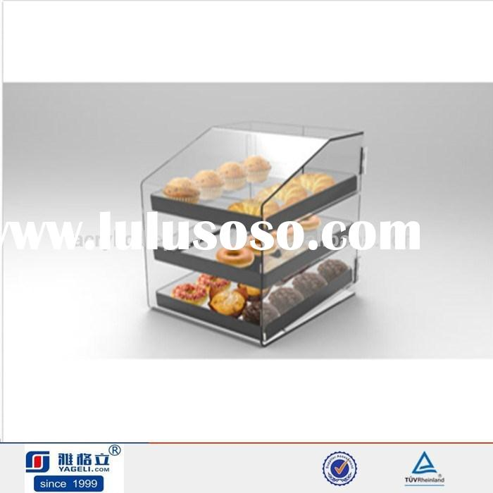 Clear acrylic trays for pastry & cake acrylic cupcake display boxs