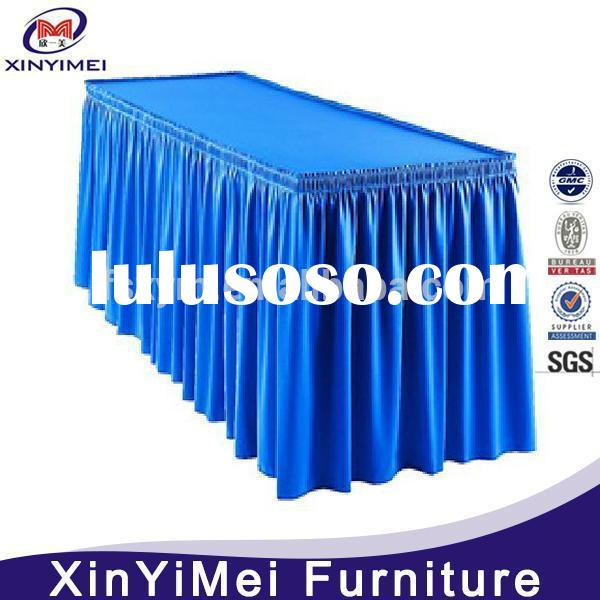 Decorative cheap table skirting for conference