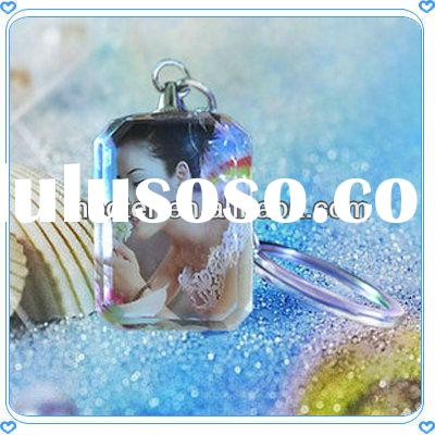 LED Crystal Fashion Women Keychain For Anniversary Gifts