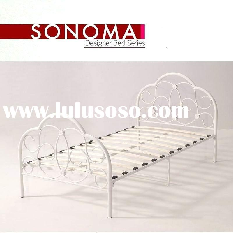 New Metal Twin Size Kid Bed Frame with Headboard and Footboard