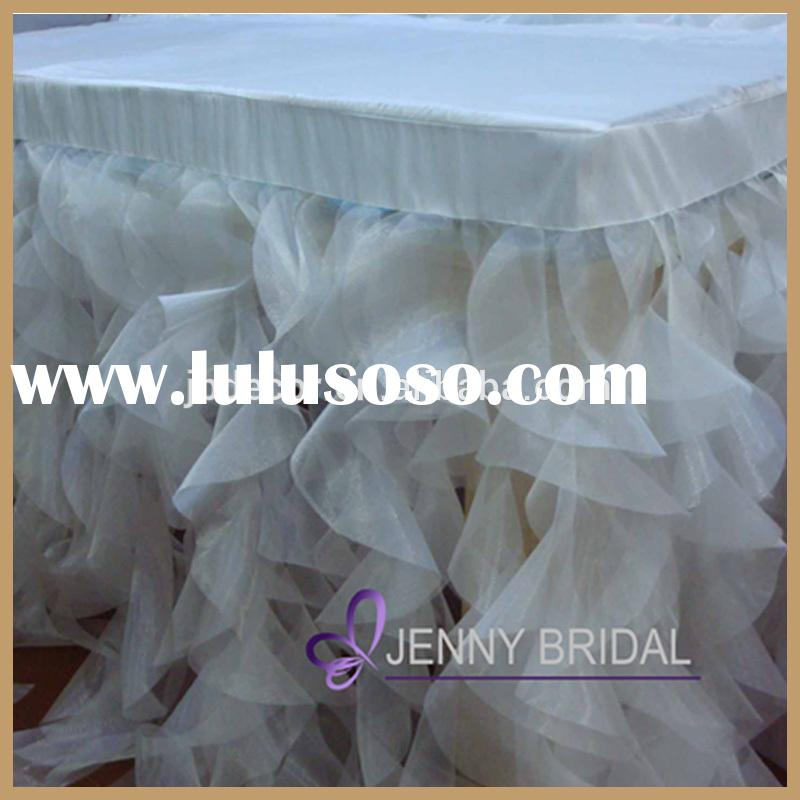 TC012A2 Alibaba hotsale cheap white table skirting designs for wedding