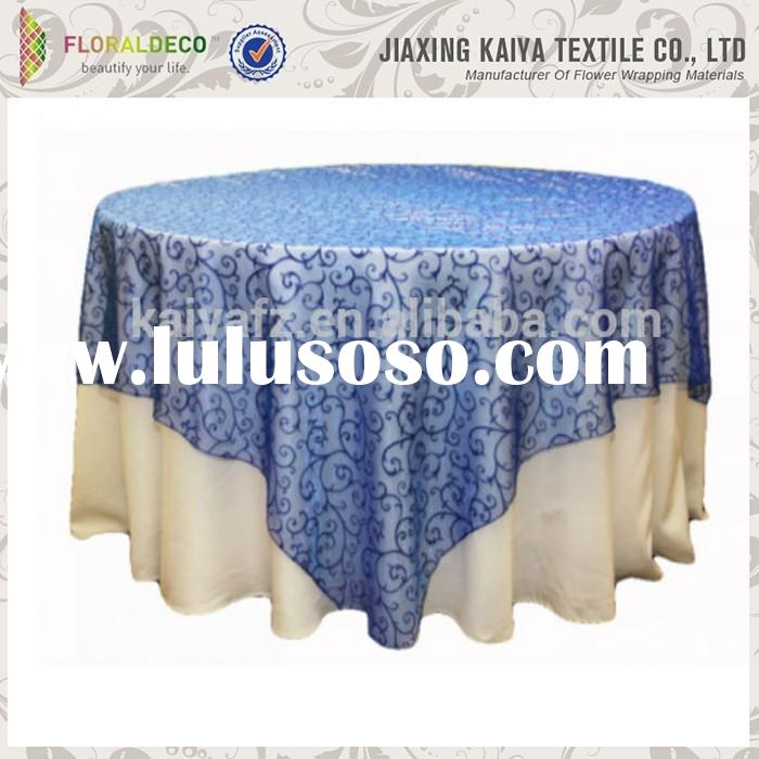 Wedding party decorative cheap polyester table skirting