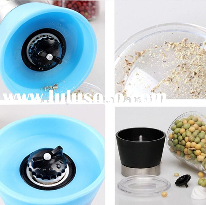 best selling cheap price manual dry pepper grinder/glass spice grinder