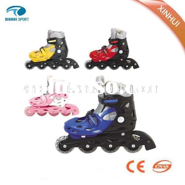 fashion shoes skate roller, 4 wheels roller shoes with retractable button