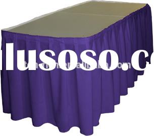 gathered cheap ruffled polyester table skirting designs