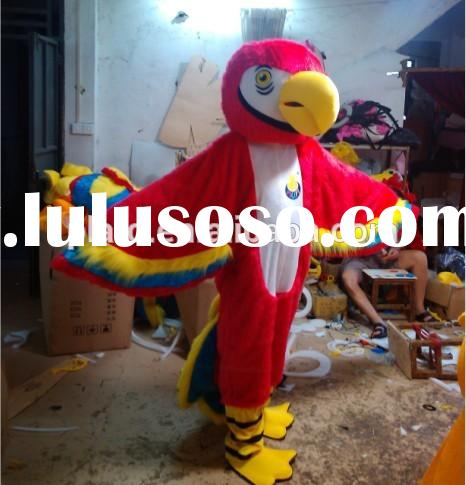 hot sale adult anime costumes for cute plush parrot costume