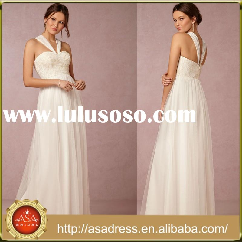 BD-64 Exquisite Girl Dresses for Maid of Honor Sleeveless Ivory Lace Plus Size Bridesmaid Dress Patt