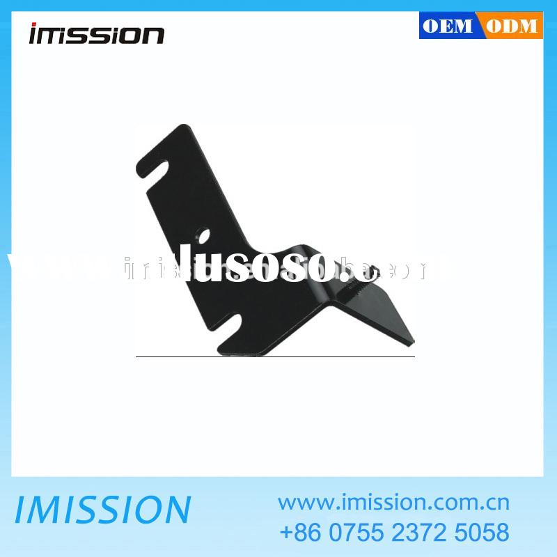 Black painting Custom sheet metal fabrication stainless steel right angle brackets