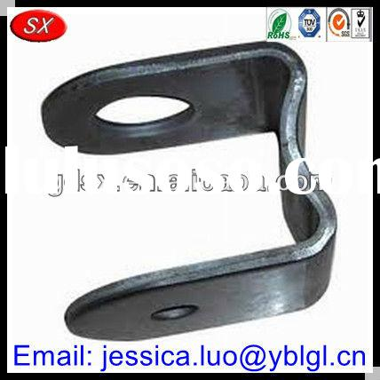 Dongguan factory price precision black oxide/coated steel metal bracket u shape,type u bracket hardw