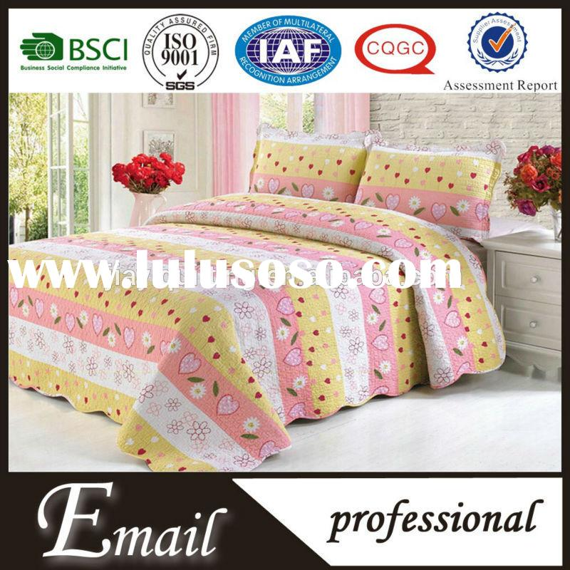 Home Hotel USE and king size poly cotton fabric printed flat bed sheets