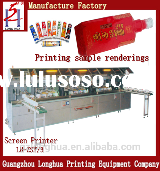 The new printing equipment Automatic Plastic Bottle Screen Printing Machine For Sale