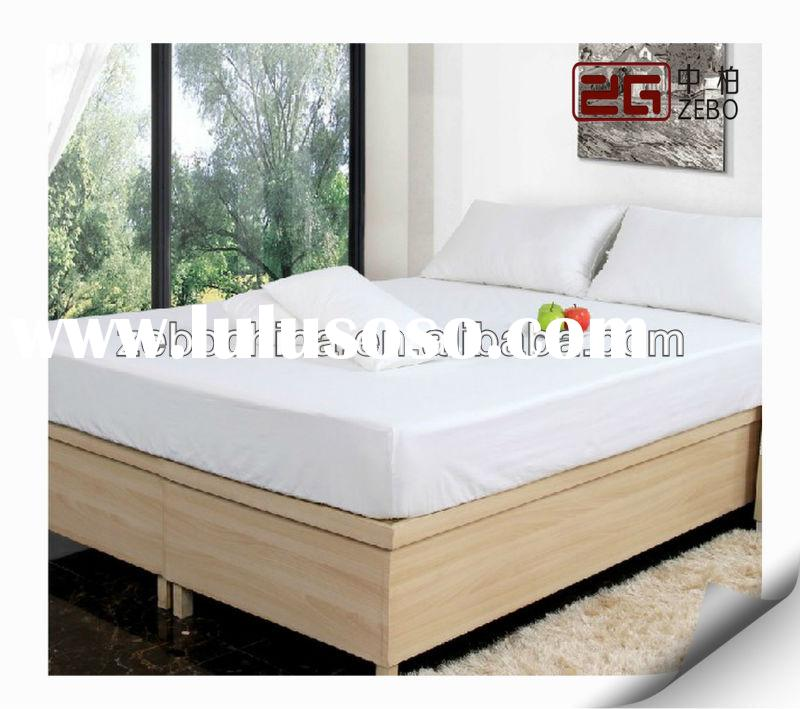 hot sale hotel polyester cotton fitted sheet white fitted flat sheet for sale