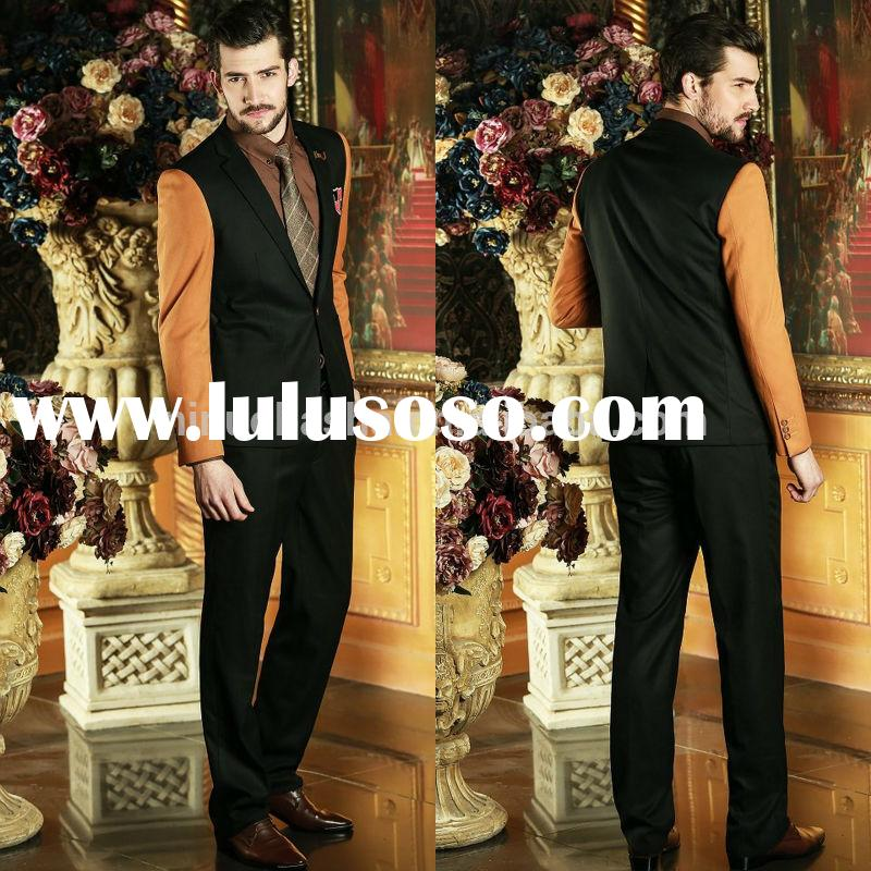 2014 Seasonal Two-Piece Latest Design Business Men Suit Tuxedo Mixed-Color Alibaba Wedding Suits For