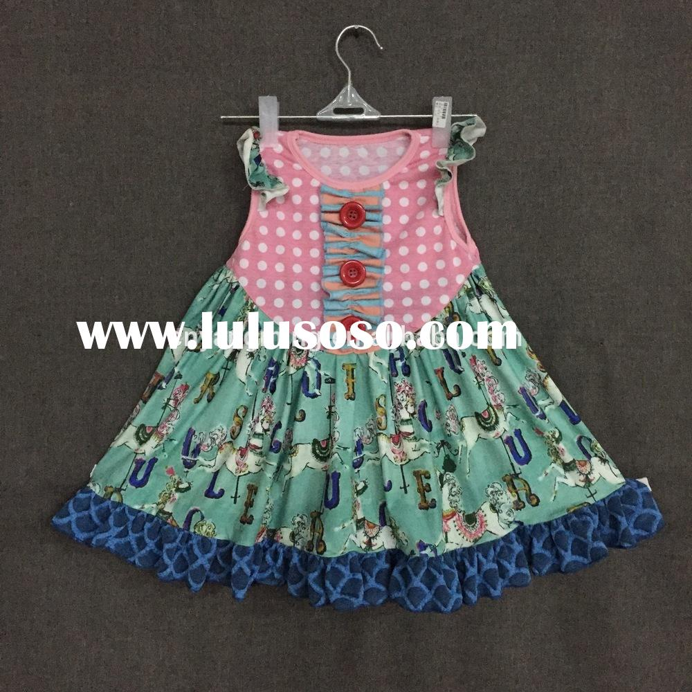 Adorable Heart Pattern girls frocks dresses pakistani girls frocks and dresses sundress with Tie bow